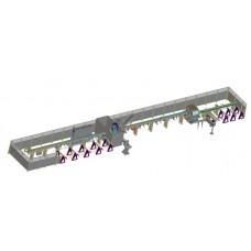 Автоматическая линия резки и обработки Fomindustrie L-M.P.T3.550P
