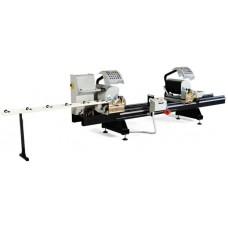 Двухголовочная полуавтоматическая пила с фронтальной подачей для резки ПВХ и алюминиевого профиля  KABAN AB 1030
